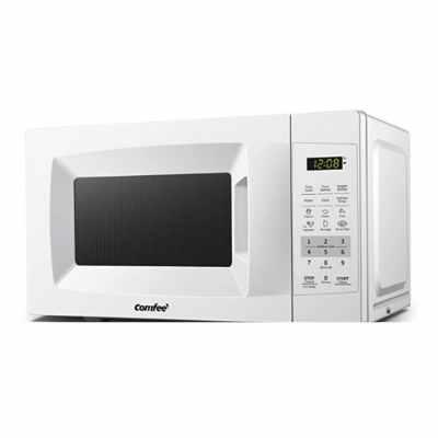 White Countertop Microwave