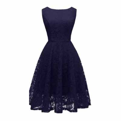 Women's Boatneck Lace Cocktail Party Dress
